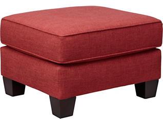 Spectrum-III Ottoman, Vermillion Red, large
