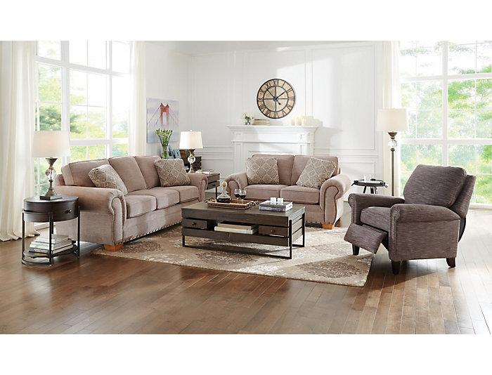 Amazing Granger Iii Taupe Loveseat Machost Co Dining Chair Design Ideas Machostcouk