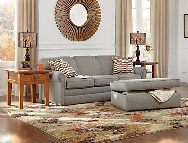 Kerry III Copper Orange Queen Sleeper Sofa, Copper Orange, large