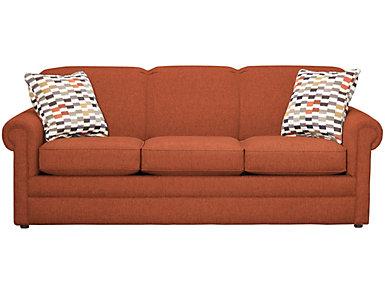 Kerry III 80-inch Sofa - Orange, , large