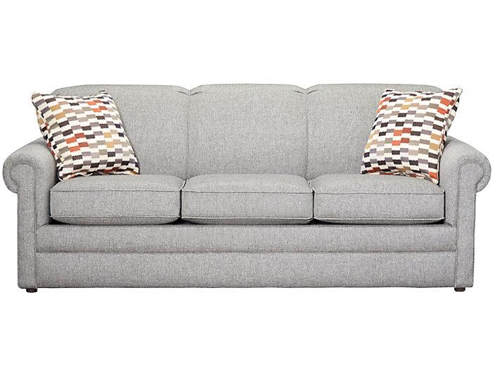 "Kerry III 80"" Sofa, Steel, Steel, large"