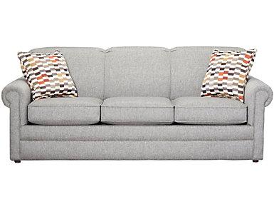 "Kerry III 80"" Sofa, Lace, Steel, large"