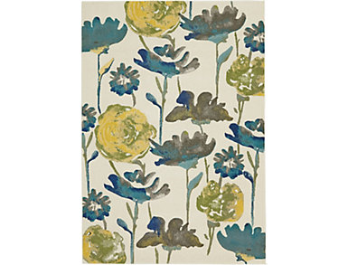 Meadow Floral 5x8 Rug, , large