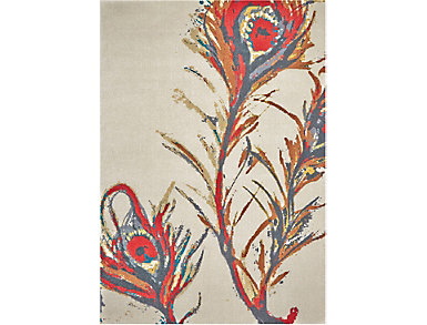 Peacock Multi 5x8 Rug, , large