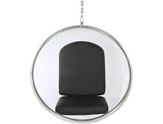 Baden Hanging Chair, Black, large