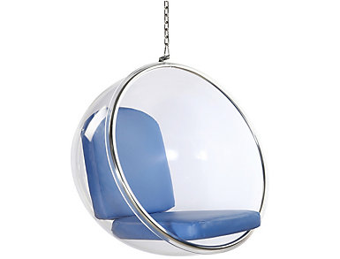 Baden Blue Hanging Chair, , large
