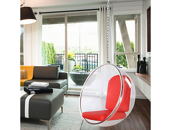 Baden Red Hanging Chair, , large