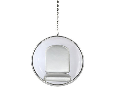 Baden Hanging Chair, Silver, large