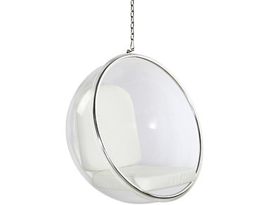 Baden White Hanging Chair, , large