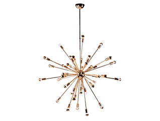 Spark Hanging Chandelier Gold, , large