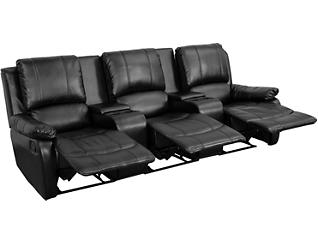 Alize Theater Reclining Sofa, Black, large