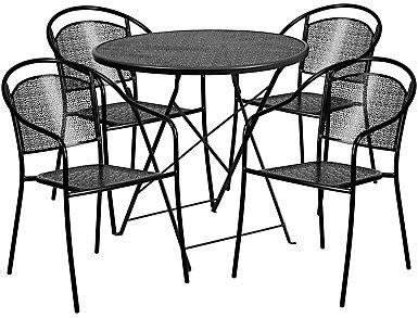 Arvada 5pc Round Dine Set, , large