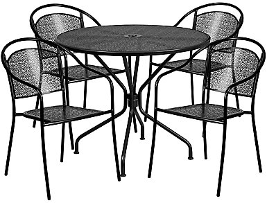 Aspen 5pc Round Dine Set, , large