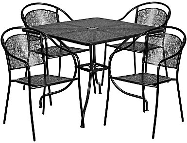 Pueblo 5pc Round Dine Set, , large