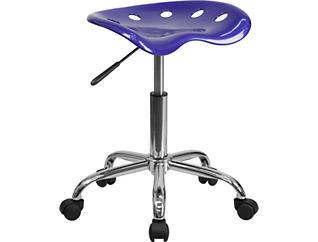 Cena Deep Blue Desk Stool, , large