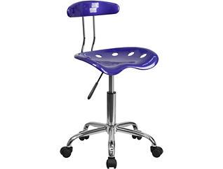 Zoa Blue Desk Chair, , large