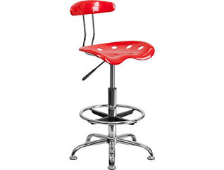 Tex Red Drafting Stool, , large