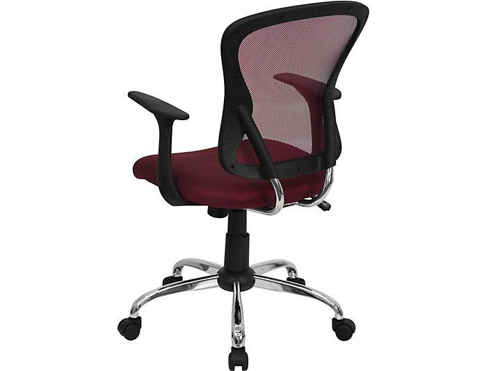 Brilliant Gary Burgundy Desk Chair Art Van Home Machost Co Dining Chair Design Ideas Machostcouk