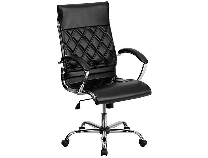 Dane Black Swivel Desk Chair, , large