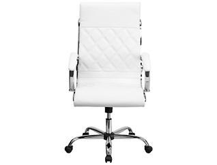 Dane White Swivel Desk Chair, , large