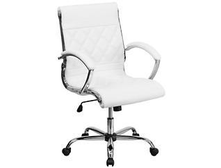 Danna White Swivel Desk Chair, , large