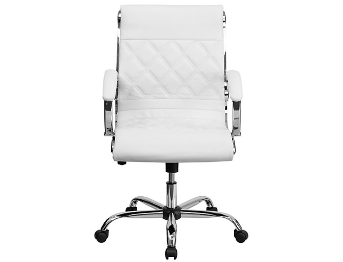 Danna White Swivel Desk Chair, , large