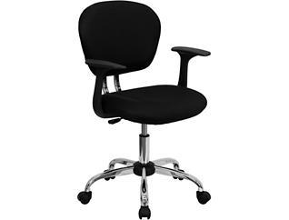 Sue Black Arm Desk Chair, , large