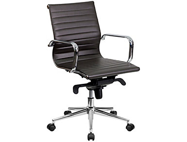 Brad Brown Swivel Office Chair, , large
