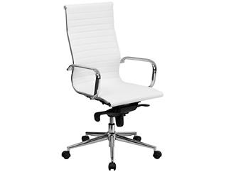 Alex White Swivel Office Chair, , large