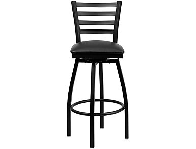 Grayson Black Swivel Bar Stool, , large