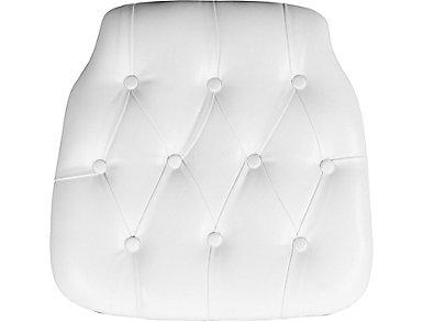 Tiffany White Tufted Cushion, , large