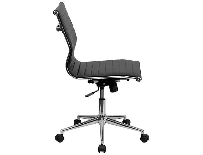 Brooke Black Swivel Desk Chair, , large