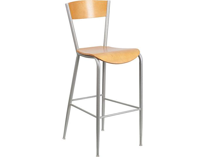 Surprising Blake Natural Wood Bar Stool Art Van Home Short Links Chair Design For Home Short Linksinfo