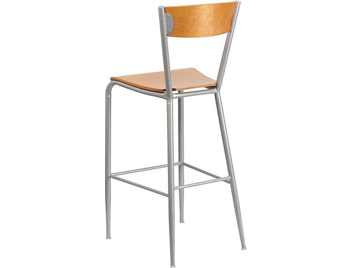 Enjoyable Blake Natural Wood Bar Stool Art Van Home Short Links Chair Design For Home Short Linksinfo