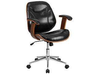 Ray Mid-Back Swivel Desk Chair, , large