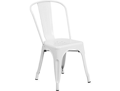 Paso White Dining Chair, , large