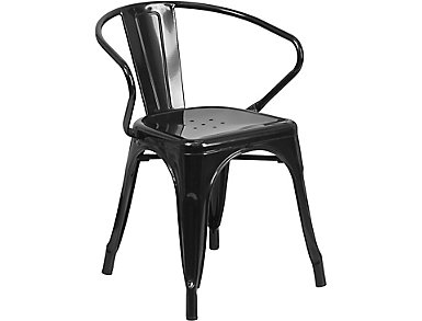 Paso Black Arm Dining Chair, , large