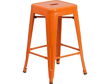 """Waco 24"""" Orange Counter Stool, , large"""