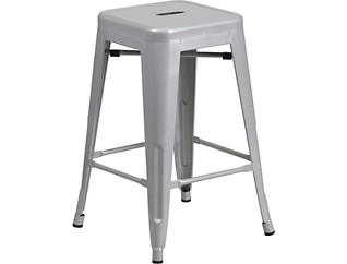 """Waco 24"""" Silver Counter Stool, , large"""