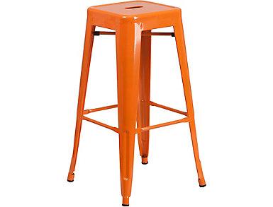 """Waco 30"""" Orange Barstool, , large"""