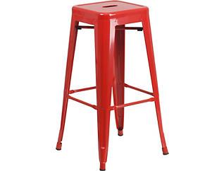 "Waco 30"" Red Barstool, , large"