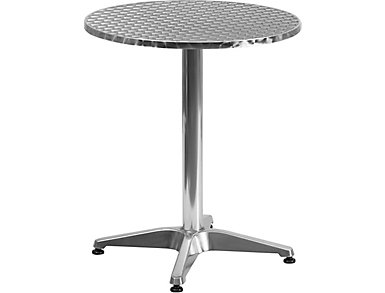"Dothan 24"" Aluminum Round Bistro Table, , large"