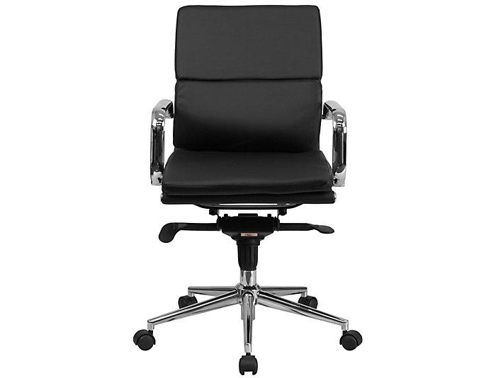 Baxter Black Swivel Desk Chair, , large
