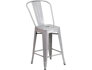"""Paso 24"""" Silver Counter Stool, , large"""