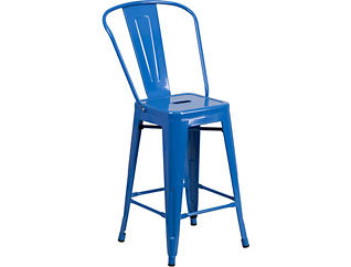 """Paso 24"""" Blue Counter Stool, , large"""