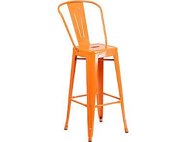 """Paso 30"""" Orange Barstool, , large"""