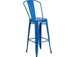 """Paso 30"""" Blue Barstool, , large"""
