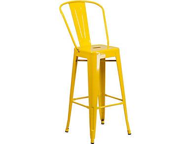 "Paso 30"" Yellow Barstool, , large"