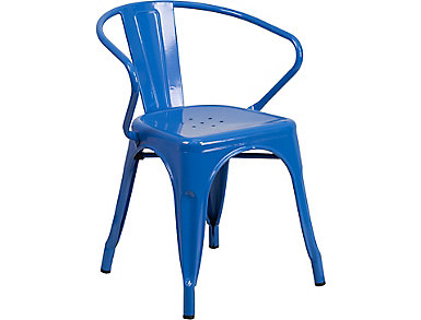 Paso Blue Arm Dining Chair, , large