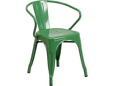 Paso Green Arm Dining Chair, , large